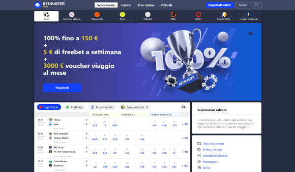 Betmaster scommesse - Betmaster Italia