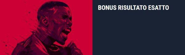 bonus sul risultato esatto