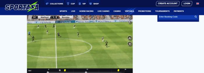 Sportaza scommesse su sport calcio e tennis virtuale